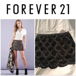 Forever 21 Black sequin skirt
